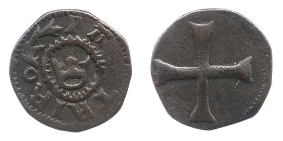Edward IV, First 'Anonymous' Issue (1460-1462) Copper Half-farthing, 1.26g, DF.101 var. S. 6399