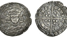 Edward IV Light Cross and Pellets coinage, Groat, Limerick, 1.97g (S 6343 DF 134)