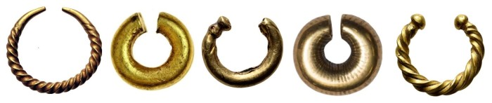 Gold pennanular rings (Celtic Ring Money)