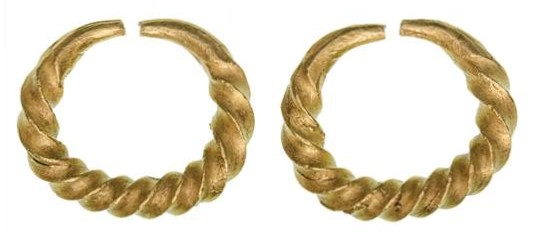 Gold Ring Money - Penannular ring of twisted form with blunt tapering terminals, late Bronze Age, 9.27g