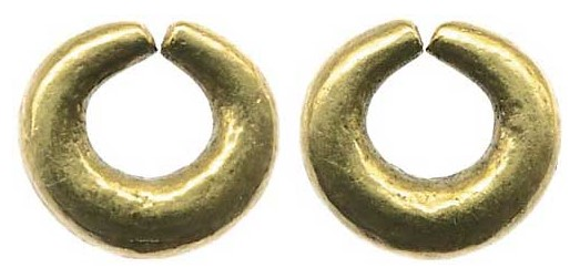 Gold Ring Money - Penannular ring (plain type) c. 1200-100 BC, 3.98g, allegedly found in Co Clare in the 19th C