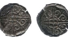 Hiberno-Norse, Phase VII Silver Bracteate Penny. Cross with rectangle at centre and lis in each angle