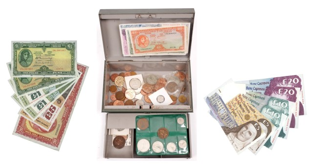 Vintage Spanish Paper Currency Lot of 4 Espania Fractional Money Bank Collectible