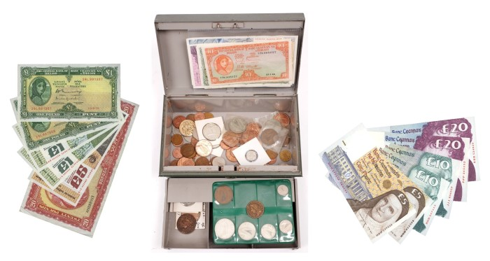 There is over €347.4 million worth of old Irish banknotes and coins missing!