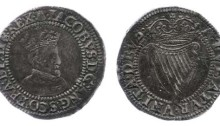 James I, 1st Irish Coinage (1603-1604), 1st Bust (squared beard), Sixpence, 2.26g, mintmark Bell (DF. 260, S. 6513)