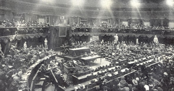 On January 21st 1919, the First Dail or independent Irish Parliament met in Dublin and declared an independent Irish Republic.