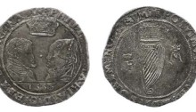 Philip and Mary, Shilling, dated 1555