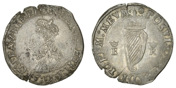 Elizabeth I (1558-1603), First issue, Shilling, mm. rose, bust 1B, reads regi, 9.05g/5h (S 6503; DF 240). Obverse nearly very fine with some surface marks, reverse better