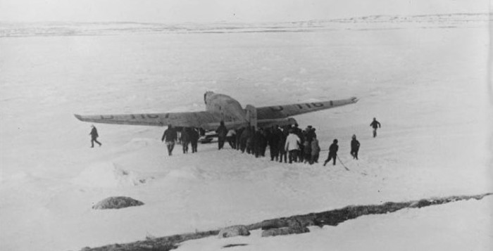 The Bremen at Greenly Island, Newfoundland: Thirty six hours and thirty minutes later after leaving Ireland, they crash landed on a frozen lake at Greenly Island, Newfoundland (off the coast of Labrador). The flight is considered the first successful East to West transatlantic flight - The Bremen had approximately two hours of fuel left