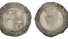 Elizabeth I, Third issue, Shilling, mm. star, 5.83g (S 6507, DF 252). Good fine or better for issue