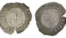 Elizabeth I, Third issue, Threepence, mm. martlet, 1.31g (S 6509, DF 254). Striking split, good very fine and very rare