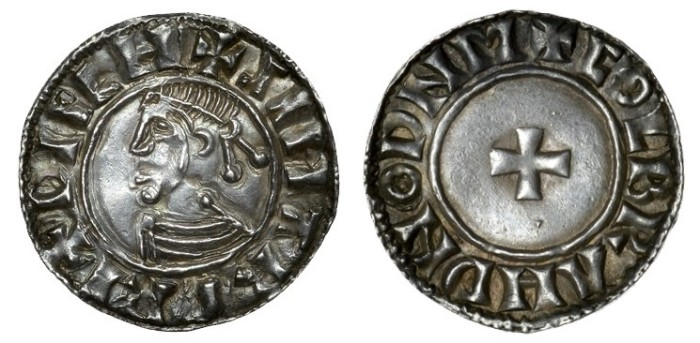 Hiberno-Norse Silver Penny (Phase I, Class D – Small Cross Type) in the name of Sihtric / Moneyer: Colbrand (of Dublin)
