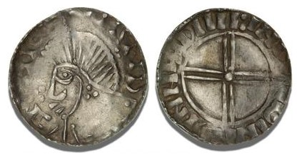 Hiberno-Norse, Phase V Penny - Draped bust left, with quatrefoil before & trefoil on neck. Short cross on reverse