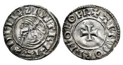 Hiberno-Norse. Sihtric III Olafsson. 995-1036. AR Penny (19mm, 1.11 g, 6h). Phase I coinage, Short Cross type. Eoferwic (York) mint signature; 'Arnthorr,' moneyer. Struck circa 1010-1016. + ZIIITR F RE+ DΓLI, diademed and draped bust left / + ARNDORR M-O EOFR, short cross pattée. O'S –; SCBI –; D&F 19; SCBC 6118. VF, peck marks. Rare – unlisted 'moneyer' for type.