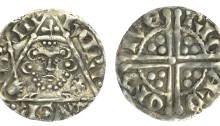 Henry III (1216-1272), Penny, type Ib, Dublin, Ricard, ricard on dive, 1.39g (S 6236, DF 54). Very fine
