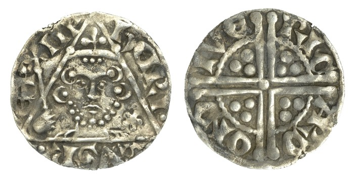 Henry III (1216-1272), Penny, type Ib, Dublin, Ricard, ricard on dive, 1.39g (S 6236, DF 54). Very fine