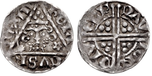 Henry III Silver Penny (18mm, 1.49 g). Group Ib. Dublin mint, David, moneyer, crowned facing bust, holding scepter; cinquefoil to right