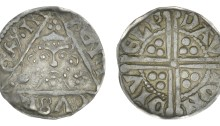 Henry III, silver Penny, Class IIa (no shoulders on bust), Dublin, Davi, DAVI ON DIVELI, 1.46g (S 6240)