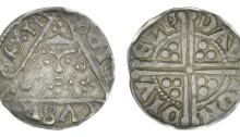 Henry III, silver Penny, Class IIa (no shoulders on bust), Dublin, Davi, DAVI ON DIVELI, 1.46g (S 6240)