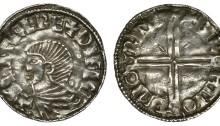 Hiberno-Norse Penny, Phase I, Class B, SIHTRC REX DYFLN, rev. BYRHTIOD MO RINI, 1.30g (Dolley B1b, SCBI BM 40, SCBI Copenhagen 29, Lane 7, S 6104, DF 6