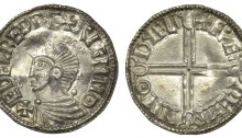 Hiberno-Norse, Phase I, Class B Penny, obv. AETHELRED REX AIGMNO, rev. long cross, FAEREMIN M·O DYFLI, 1.59g (SCBI BM 31-2, S 6106, DF 11)