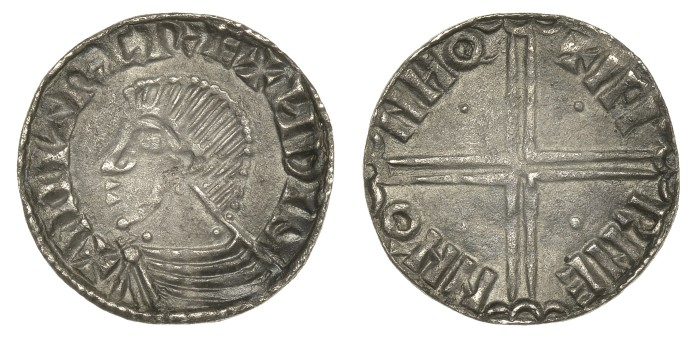 Hiberno-Norse Silver Penny, Phase II, .77g, bare headed bust left, rev. IFI RNE NNO NHO, small pellet in all 4 angles, good VF (SCBI BM –, S 6122, DF 22)