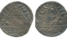 Ireland Halfpenny John, Third 'Rex' Coinage Limerick mint moneyer Willem 0.47g (DF 51, Withers 1a S 6232)