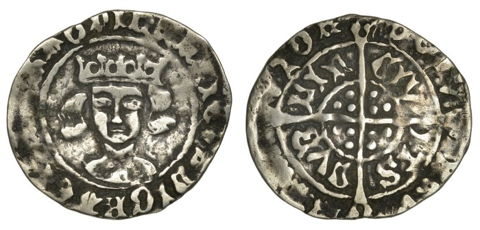 Henry VII, Late Portrait issue Groat, Dublin, type III, open flat crown, no tressure, rev. indented cross-ends, reads CIVITS, 1.66g (S 6464, DF 200). Good fine