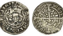Henry VII Silver Groat, Late Portrait issue, Groat, Dublin, type I, open crown, plain tressure, 2.00g (S 6453, DF 193). On a full flan, good fine (gF)