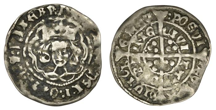 Henry VII Silver Groat, Late Portrait issue, Groat, Dublin, type I, open crown, plain tressure, 2.00g (S 6453, DF 193). On a full flan, good fine (gF)