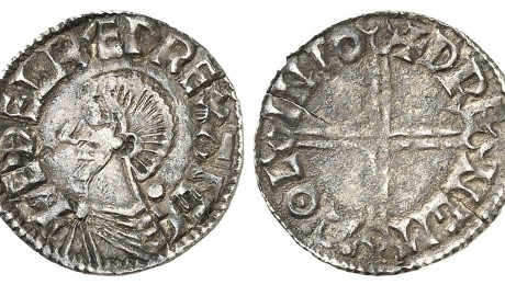 Hiberno-Norse Penny, Phase I, Class B, Penny, 1.10 g. + EDELRED REX ANGL bust left, large pellet behind + DP NGM AOL INIO. DF 13, S 6107. aVF
