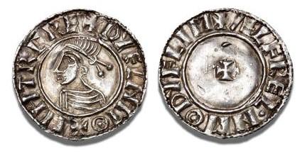 Hiberno-Norse Penny, Phase I, Class D Small Cross (Sithric), 1.39g, Moneyer Ælfrel (SCBI BM 50, S 6117)