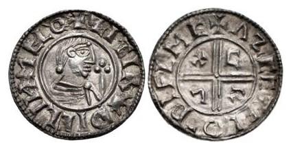 Hiberno-Norse Penny, Phase I, Class A CRUX (Sithric), 21mm, 1.64g, Obv. +ZITIR– DICLIИ MELO, Rev. +ΛZCETEL O– DIFLMC (O'S 1, Hildebrand 11, SCBC 6100)