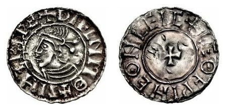 Hiberno-Norse Penny, Phase I, Class A CRUX (Sithric, King of Dublin), 18mm 0.93g, Moneyer Leofwine of Chester (O'S -, D&F 19, SCBC 6118)