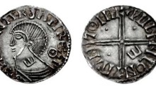 Hiberno-Norse Phase II Penny, Worcester mint, Penny, 17mm, 0.69g. Obv. ИHRNΛR∂ ΛN REX I, rev. PVLFRIC ON PIRH MΘINI