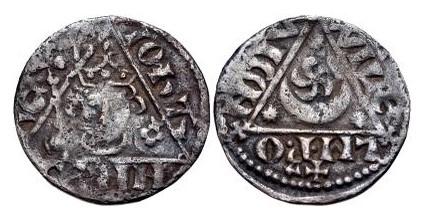 Ireland Penny John, Third 'Rex' Coinage Dublin mint moneyer WillemP, 18mm, 1.37g. D&F 50, S. 6228A