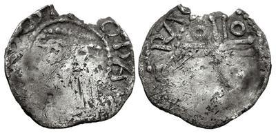 John, as Lord of Ireland, 1190-98 (Third Coinage, Dominus + Cross Pommée Issue) Carrickfergus mint, Roberd, moneyer
